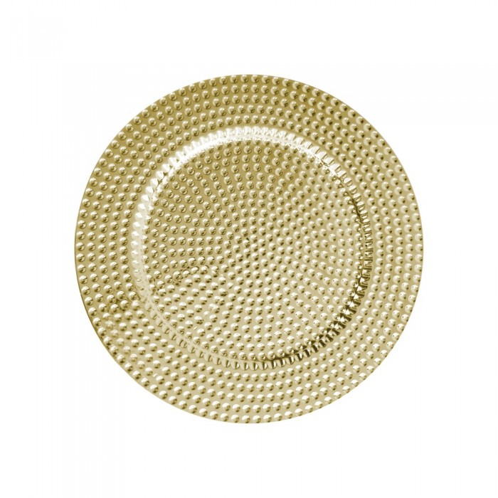 """The Jay Companies 1270275-4 Round Gold Beaded Charger Plate 13"""""""