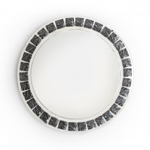 """The Jay Companies 1332639 Round Black and White Beaded Glass Charger Plate 13"""""""
