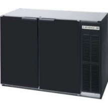 "Beverage Air BB48R-1-B 34"" Refrigerated 2-Section Backbar Storage Cabinet"