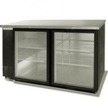 Beverage Air BB58G-1-B Refrigerated Backbar Storage Cabinet with 2 Glass Doors