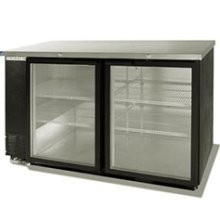 Beverage Air BB58G-1-B 2 Section Glass Door Back Bar Refrigerator 59""