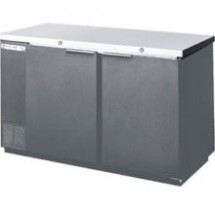 Beverage Air BB68-1-S Stainless Steel Refrigerated Backbar Storage Cabinet with 2 Sections