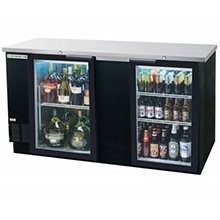 Beverage Air BB68G-1-B 2 Section Glass Door Back Bar Refrigerator 69""