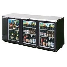 Beverage Air BB78G-1-B Three-Section Refrigerated Backbar Storage Cabinet