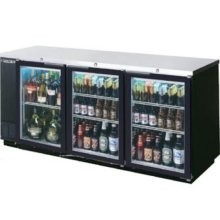 Beverage Air BB78G-1-S Stainless Steel 3 Section Glass Door Back Bar Refrigerator 79""
