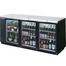 Beverage Air BB78G-1-S Three-Section Stainless Steel Refrigerated Backbar Storage Cabinet
