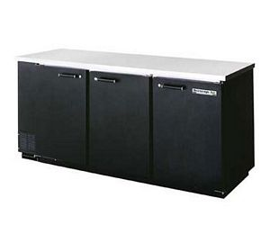 Beverage Air BB78R-1-S Stainless Steel Refrigerated Backbar Storage Cabinet with 3 Sections