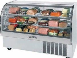 Beverage Air CDR6/1-B-20 Black Curved Glass Refrigerated Display Case 73