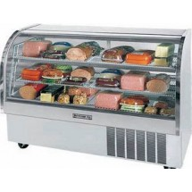 Beverage Air CDR6/1-S-20 Stainless Steel Curved Glass Refrigerated Display Case 73