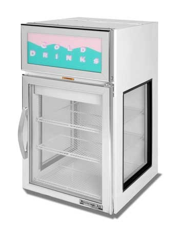 Beverage Air CRD5GE-1W-G Countertop Merchandiser with a  White Epoxy Exterior