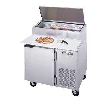"Beverage Air DP46 1-Section Pizza Top Refrigerated Counter with 19"" Cutting Board"
