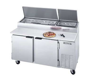 Beverage Air DP67 Two-Section Pizza Top Refrigerated Counter