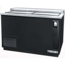 "Beverage Air DW49-B 50"" x 26.5"" Flat Top Black Vinyl Bottle Cooler"