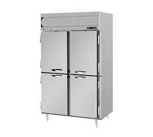 Beverage Air PRF24-241AHS-02 Half Door 2 Section Dual Temperature Reach In Refrigerator / Freezer