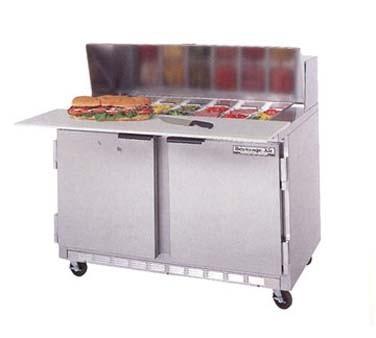 Beverage Air SPEC Sandwich Salad Prep Table With - Restaurant prep table cutting boards