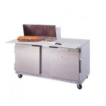 """Beverage Air SPE60-08C 2-Section Refrigerated 60"""" Sandwich/Salad Preparation Table with 17"""" Cutting Board"""