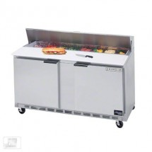 "Beverage Air SPE60-10 60"" Sandwich/Salad Preparation Table with 10"" Cutting Board"