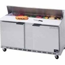 "Beverage Air SPE60-16 2-section Refrigerated 60"" Sandwich/Salad Preparation Table with 10"" Cutting Board"