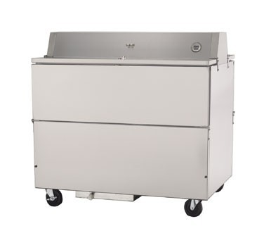 Beverage Air STF49-1-S Stainless Steel Forced Air Milk Cooler and Dual Access Style
