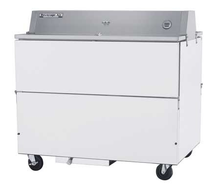 Beverage Air STF49-1-W-02 White Coated Steel Forced Air Milk Cooler with Double Access