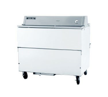 Beverage Air STF49-1-W White Coated Steel Milk Cooler with Double Access