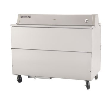 Beverage Air STF58-1-S Stainless Steel Forced Air School Milk Cooler with Dual Access Style