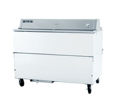 Beverage Air STF58-1-W White Coated Stainless Steel Milk Cooler with Forced Air and Dual Access Style