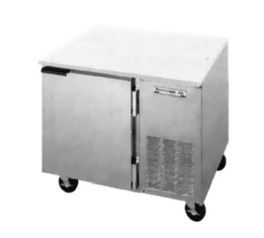 "Beverage Air UCR46A Stainless Steel Side-Mounted 46"" x 32"" Undercounter Refrigerator"