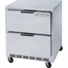 "Beverage Air UCRD119A-2 Four-Section Stainless Steel Rear-Mounted 119"" x 32"" Undercounter Refrigerator"