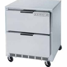 """Beverage Air UCRD119A-8 Four-Section Stainless Steel Rear-Mounted 119"""" x 32"""" Undercounter Refrigerator"""