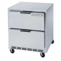 "Beverage Air UCRD27A-2 Stainless Steel Rear-Mounted 27"" x 29"" Undercounter Refrigerator with 2 Drawers"