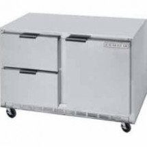 "Beverage Air UCRD46A-2 Stainless Steel Rear-Mounted 46"" x 32"" Undercounter Refrigerator with 2 Drawers"