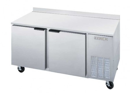 """Beverage Air WTR67A 2-Section 32"""" Worktop Refrigerator with Stainless Steel Top/Rear Splash"""