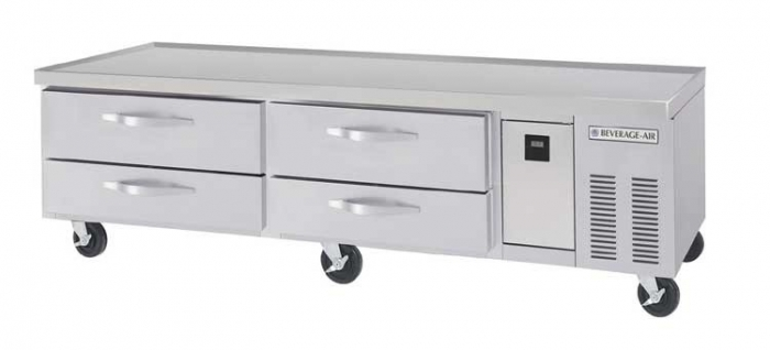 """Beverage Air WTRCS84-1 84"""" Two-section Stainless Steel Worktop Refrigerator"""