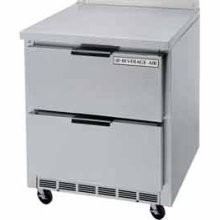 """Beverage Air WTRD119A-4 Four-Section 119"""" x 32"""" Stainless Steel Top/RemovableRear Splash Worktop Refrigerator"""