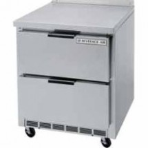 "Beverage Air WTRD119A-6 Four-Section 119"" x 32"" Stainless Steel Top/Removable Rear Splash Worktop Refrigerator"