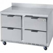 "Beverage Air WTRD60A-4 Two-Section 60"" x 29"" Stainless Steel Top/Removable Rear Splash Worktop Refrigerator"