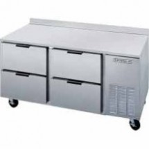 """Beverage Air WTRD93A-2 35.5"""" Three-Section 93"""" x 32"""" Stainless Steel Top Worktop Refrigerator with Removable Rear Splash"""