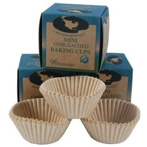Beyond Gourmet 96 Unbleached Mini Baking-Cups. 96 cups