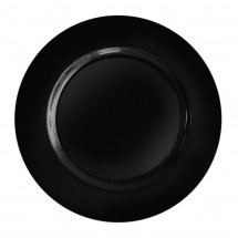 The Jay Companies 1270028 Round Black Melamine Charger Plate 13""