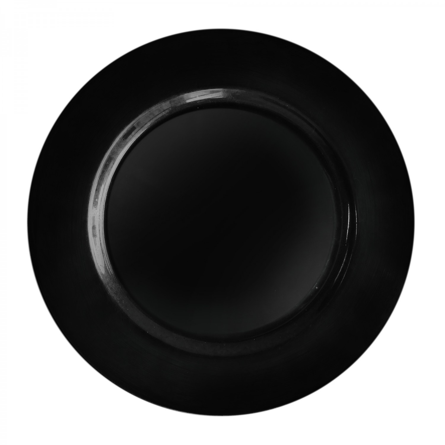"""Jay Companies 1270028 Round Black Melamine Charger Plate 13"""""""