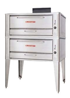 "Blodgett 1048 DOUBLE 48"" Gas Double Pizza Deck Oven"