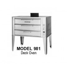 "Blodgett 981 DOUBLE Gas Double Deck Oven, 42""W x 32""D"
