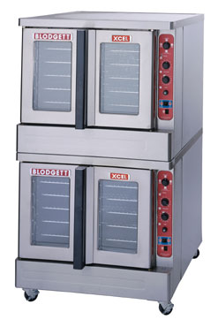 Blodgett DFG100 XCEL RI D Roll-In Gas Convection Double Deck Oven