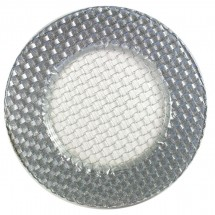 The Jay Companies 1470059 Round Glass Braid Silver Glitter Charger Plate 13""