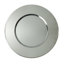 The Jay Companies 1180016 Round Bridal Metal Charger Plate 13""