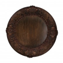 """The Jay Companies 1320429 Round Embossed Brown Charger Plate 14"""""""