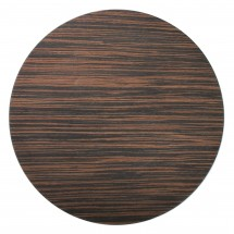 """The Jay Companies 1270002 Round Brown Pine Faux Wood Charger Plate 13"""""""