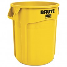 Rubbermaid Yellow Round Brute Container, 20 Gallon,