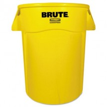 Rubbermaid Brute Yellow Vented Trash Receptacle, 44 Gallon